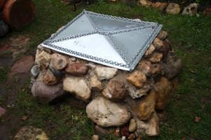 Самодельный мангал из камня