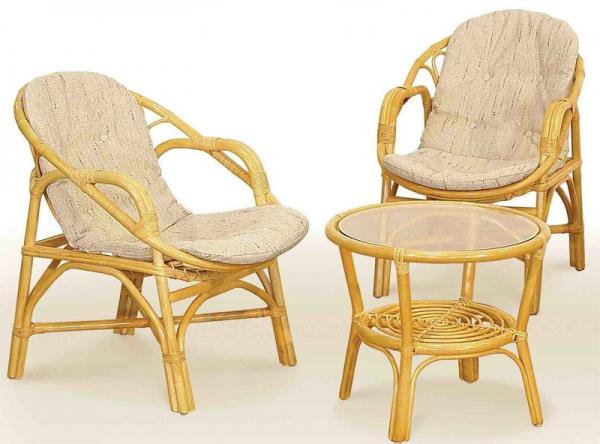 Комплект плетёной мебели для отдыха из ротанга 7.