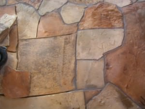 Каменный пол для моечного отделения