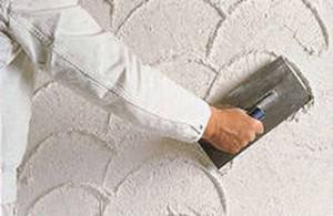 Создание рельефа известково-цементным раствором