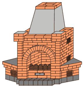Схематичный рисунок камина