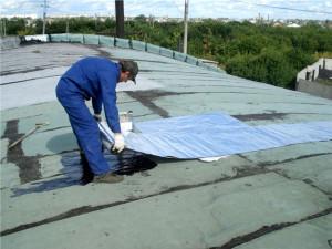 Проведение работ на сухой крыше