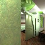 Использование зеленых оттенков