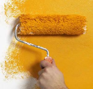 Нанесение краски валиком с длинным ворсом