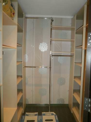Сделать гардеробную комнату своими руками из кладовки