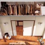 Гардеробную комнату легко создать при помощи гипсокартонной перегородки