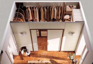 Пример гардеробной из гипсокартона
