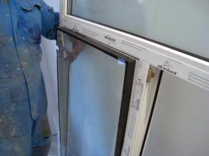 Удаление стеклопакета из рамы