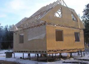 Каркасные дома на свайно-винтовом фундаменте