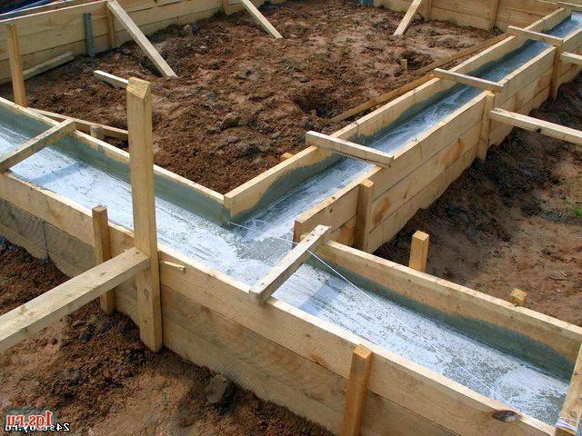 Как сделать опалубку для фундамента для бани