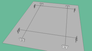 План-разметка фундамента