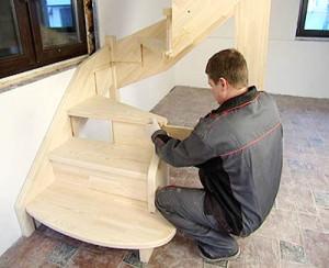 Лестница с врезными ступенями