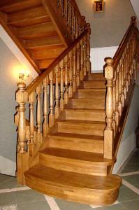 Маршевые лестница в интерьере