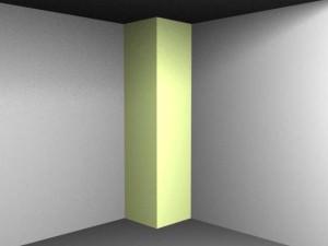 Схематичное изображение короба из гипсокартона