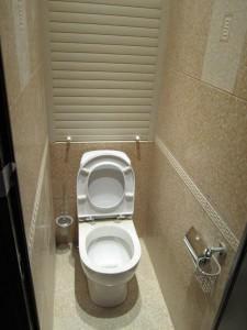 Рольставни в туалете