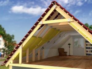 Схема утепления крыши в разрезе