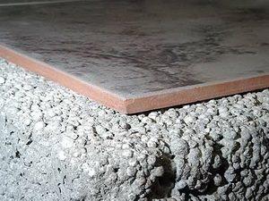 Плитка поверх керамзита
