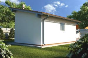Строение с односкатной крышей