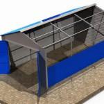 Схема строения каркаса для гаража