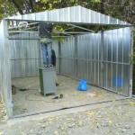 Облицовка гаража профнастилом