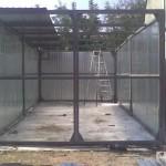 Установка двухстворчатых ворот
