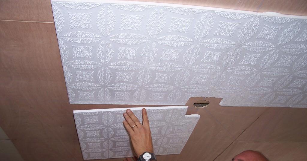 Бесшовный потолок из пенопласта