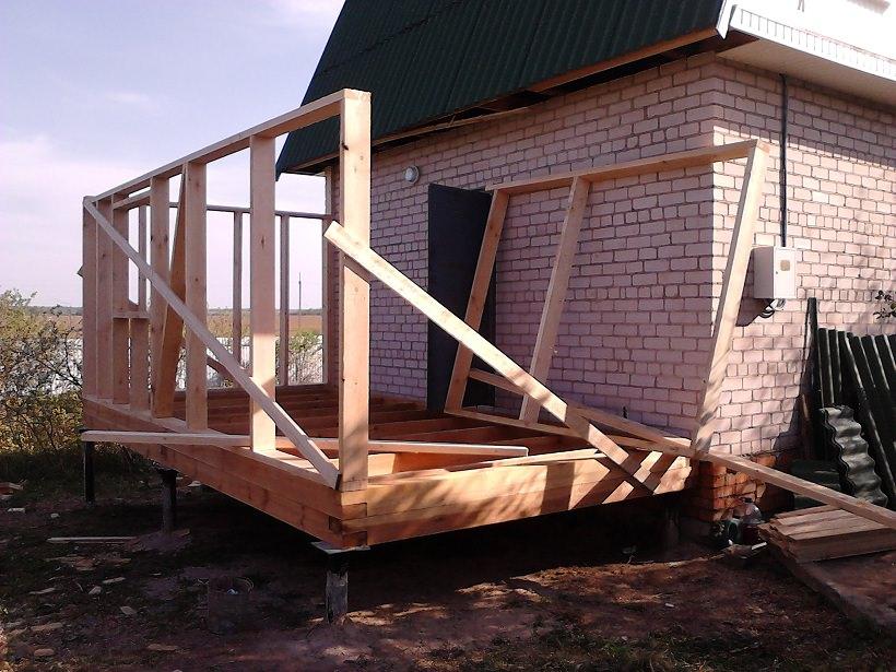 Erweiterung zum Haus eines Rahmens