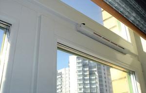 Оконный вентиляционный клапан на пластиковое окна