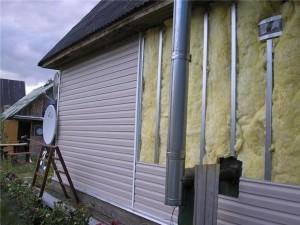 Утепление дома снаружи минватой под сайдинг
