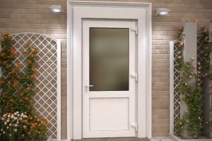 Входная пластиковая дверь со стеклом — виды, советы по выбору, стоимость
