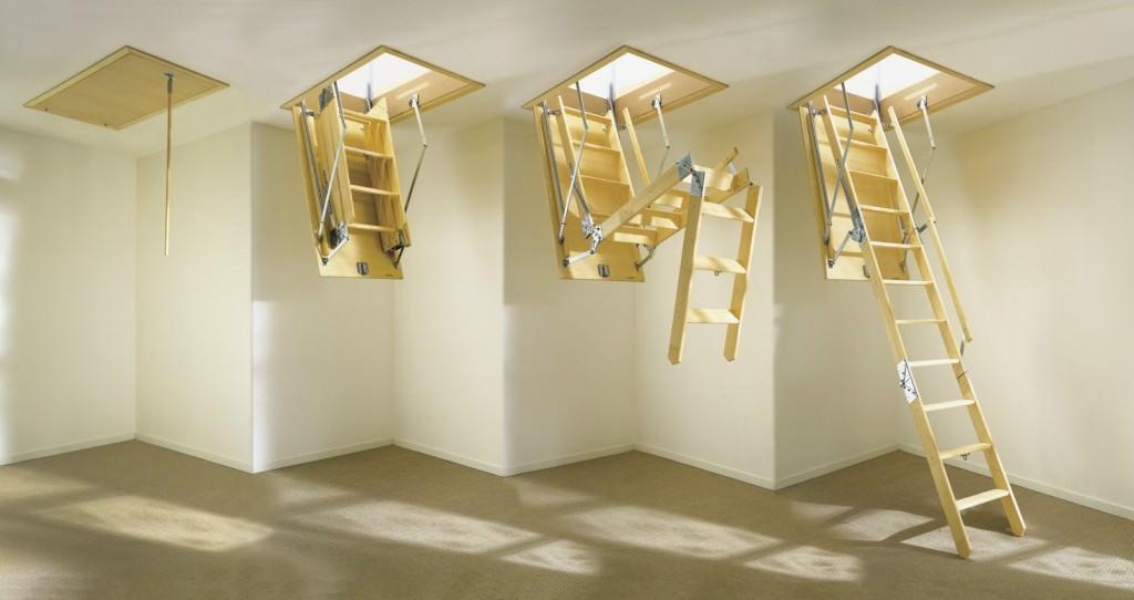 Складная чердачная лестница с люком
