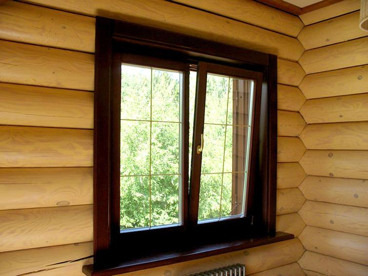 Как вставить деревянное окно в деревянном доме
