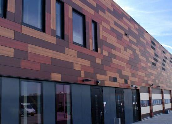 Фасадные панели из прессованных древесных волокон